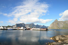 Hamnoy's harbour Stock Photos