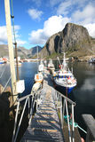 At Hamnoy's pier Royalty Free Stock Photos