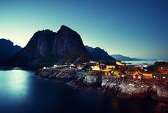 Hamnoy at summer, Lofoten islands Royalty Free Stock Photography