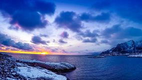 Hamnoy Timelapse stock video footage