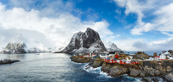 Hamnoy village in winter Stock Images