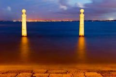 hamnplats för kolonnlisbon viewpoin Royaltyfri Foto