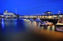 hamnplats för tamsui för plats för fiskarenatt s Arkivbild