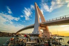 Hamnplats för Tamsui fiskare` s royaltyfria foton