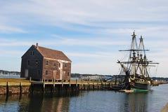 Hamnplatser i Salem, MOR Arkivbild