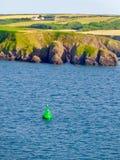 Hamnsikt av Milford Haven, Wales royaltyfria bilder