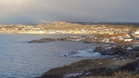 Hamnsikt Newfoundland arkivbilder