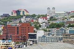 Hamnstad av St Johns i Newfoundland Fotografering för Bildbyråer
