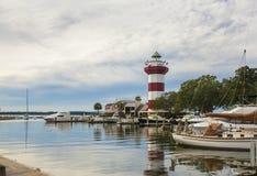 Hamnstad, Hilton Head royaltyfria foton