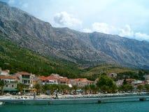 Hamnstad i Kroatien Fotografering för Bildbyråer