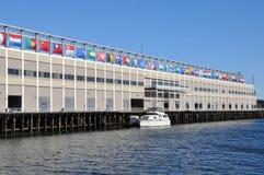 HamnstadWorld Trade Center i Boston Royaltyfria Foton