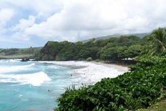 Hamoa Beach, Hana, Maui, Hawaii - Paradise found stock photography
