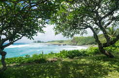 Hamoa Beach near Hana on Hawaiian island of Maui Stock Images