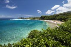 Hamoa plaża blisko Hana na wschodniej części Maui, Hawaje Obraz Royalty Free