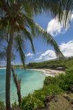 Hamoa plaża blisko Hana na wschodniej części Maui, Hawaje Zdjęcia Royalty Free