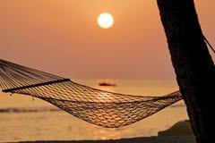 Hamock And The Setting Sun Royalty Free Stock Image