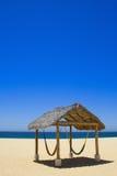 Hamocks auf dem Strand Stockbild