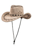 Hamois stetson cowboy hat. One chamois stetson cowboy hat,  from one side, on white background; isolated Stock Photography