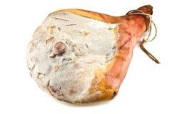 Hamon. Spanish leg isolated on white Stock Photography