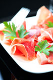 Hamon salad in plate Royalty Free Stock Image