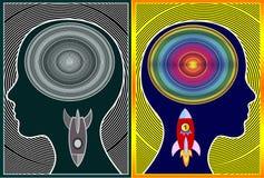 Hamować cykl negatywne myśli ilustracji