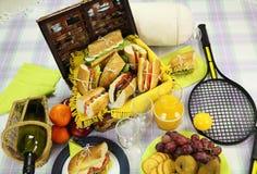Hamper di picnic Fotografia Stock