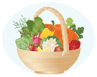 Hamper di verdure Illustrazione Vettoriale