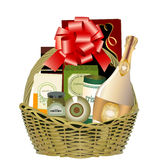 Hamper do presente Imagem de Stock