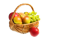 Hamper with fruits Royalty Free Stock Photos