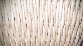 Hamper Straw Detail. Closeup of the Straw of a Hamper Royalty Free Stock Image