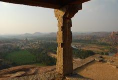 hampi印度vijayanagar karnataka的视图 图库摄影