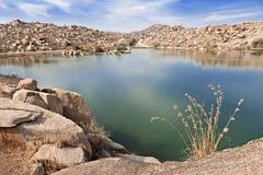 Hampi的Beauty湖 库存照片