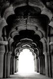 Hampi,印度 黑色白色 免版税库存照片