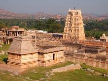Hampi świątynny kompleks, UNESCO światowego dziedzictwa miejsce w Karnataka, India zdjęcie stock