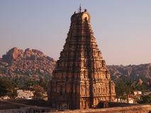 Hampi świątynny kompleks, UNESCO światowego dziedzictwa miejsce w Karnataka, India zdjęcia stock