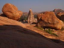 Hampi świątynny kompleks, UNESCO światowego dziedzictwa miejsce w Karnataka, India zdjęcia royalty free