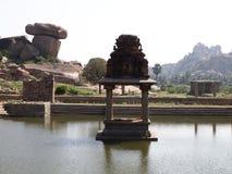 Hampi świątynny kompleks, UNESCO światowego dziedzictwa miejsce w Karnataka, India obrazy stock