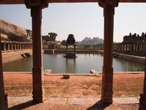 Hampi świątynny kompleks, UNESCO światowego dziedzictwa miejsce w Karnataka, India obraz royalty free