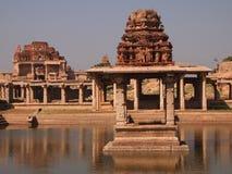Hampi świątynny kompleks, UNESCO światowego dziedzictwa miejsce w Karnataka, India fotografia stock
