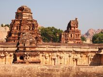 The Hampi temple complex, a UNESCO World Heritage Site in Karnataka, India stock images