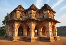 Lotus Temple in Hampi stock images