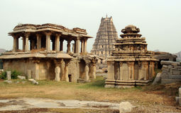 Hampi ancient temples. Ancient temples in Hampi - India stock image