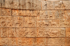Hampi bas relief Royalty Free Stock Image