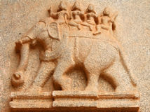 Hampi bas relief Stock Photo