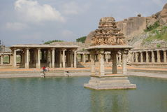 Hampi bazaar Unesco world heritage site Stock Images