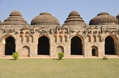 Hampi elephant stables Royalty Free Stock Image