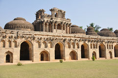 Hampi elephant stables Royalty Free Stock Photo