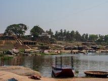 Hampi flod Arkivbild