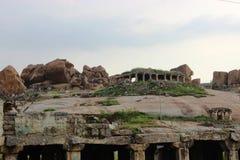 Hampi fort stock image