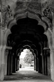 Hampi, India. In black and white. Royalty Free Stock Photography